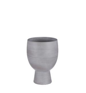 "Marlou pot on foot l. grey - 9.5x11.75"""