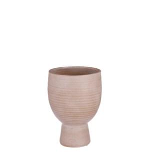 "Marlou pot on foot beige - 9.5x11.75"""