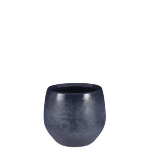 "Douro pot round blue matt - 8x7"""