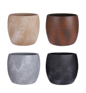 """Lester pot round stone 4 assorted PDQ - 9.5x8.75"""""""