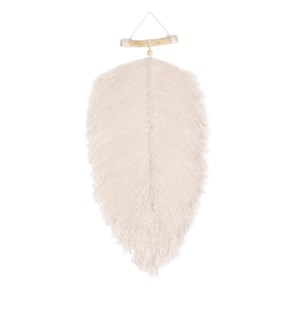 """Feather hanging white - 13.75x1x29.5"""""""