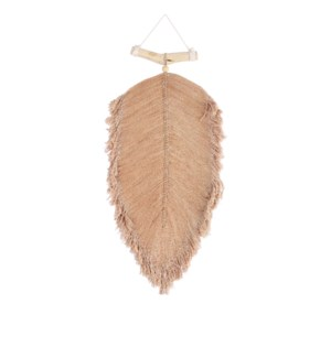 """Feather hanging brown - 13.75x1x29.5"""""""