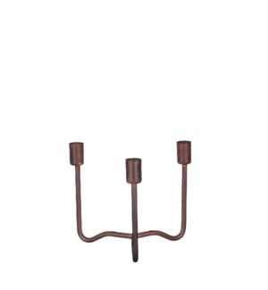 """Hank candleholder copper - 7.25x7.25x6.25"""""""
