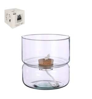 """Elements selfwatering planter glass - 7.5x8.75"""""""