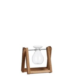 "Belly vase transparent - 6.5x5x6.75"""