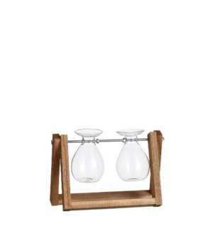 "Belly vase transparent - 8.5x5x6.75"""