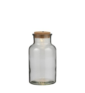 """Jar glass 5 led battery operated - 6x10.25"""""""
