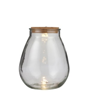 Jar glass 5 led battery operated - 9.75x11""