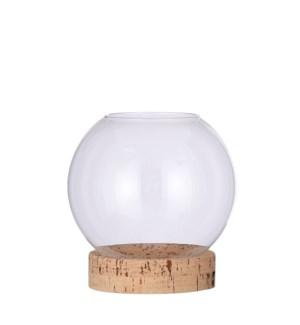 "Jillian vase on stand glass - 7x7.5"""