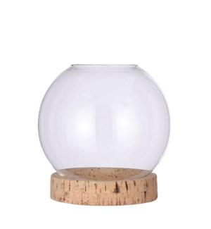 "Jillian vase on stand glass - 8x8.25"""