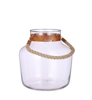 "Natasja vase glass - 11.5x11.75"""