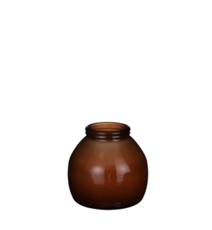 "Civita vase brown - 8.25x8"""