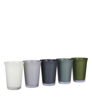 Troj vase glass 5 assorted PDQ - 5.5x7.5""