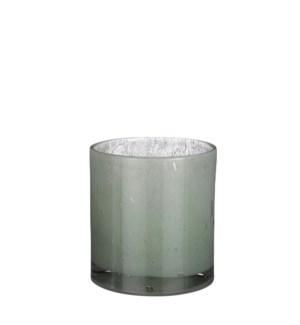"""Estelle vase cylinder glass l. green - 6.75x7.25"""""""