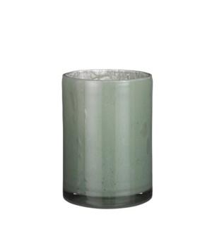 """Estelle vase cylinder glass l. green - 6.75x9"""""""