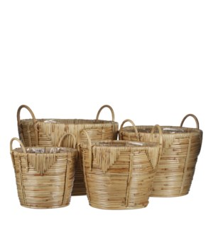 Ankara basket brown set of 4 - 11x8""