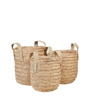 Zoey basket l. brown set of 3 - 15.75x15.25""