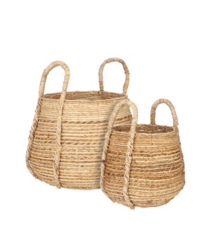 Elliott basket l.brown set of 2 - 17.25x19.25""