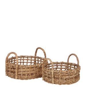 Horace basket brown set of 2 - 17x15.75x10""