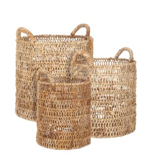 Sheridan basket l. brown set of 3 - 16.5x19""