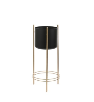 Sverre pot on stand black - 10.75x26""