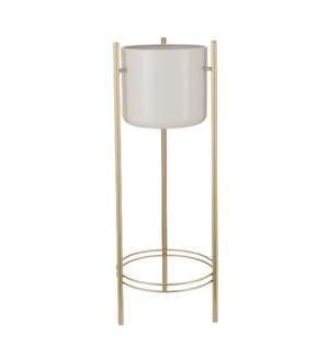 Sverre pot on stand white - 11x32""