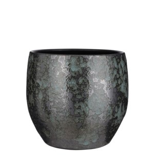 Nicolas pot round green - 13x11.5""