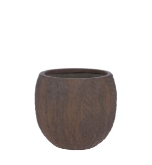 Dione pot round brown - 14.5x12.75""