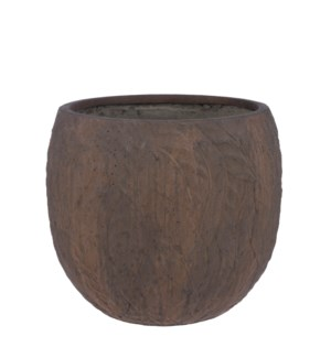 Dione pot round brown - 18.75x16.25""