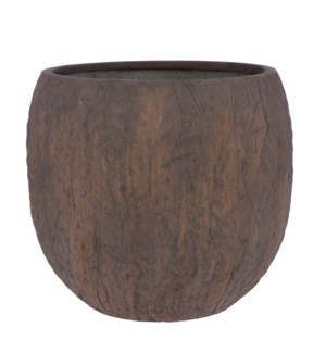Dione pot round brown - 21.75x19""