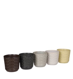 Gregory pot round 5 assorted PDQ - 5.5x5""
