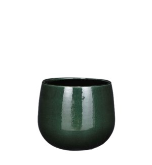 Pablo pot round d. green - 7x6.25""