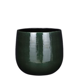 Pablo pot round d. green - 9.75x8""