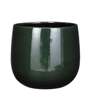 Pablo pot round d. green - 11.5x9.75""