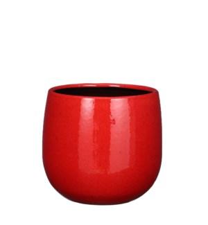 """Pablo pot round red - 8.25x7.5"""""""