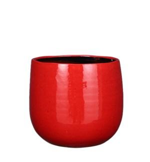 """Pablo pot round red - 9.75x8"""""""