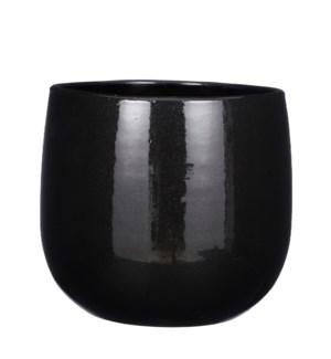 "Pablo pot round black - 11.5x9.75"""