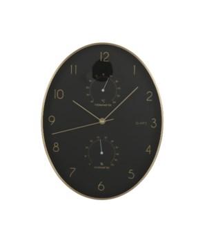 "Andy wall clock black - 10.75x1.75x13.75"""