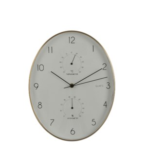 """Andy wall clock white - 10.75x1.75x13.75"""""""