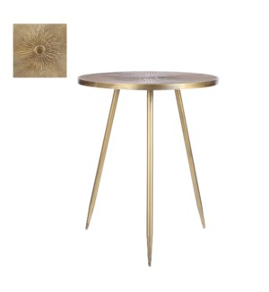 """Florentino side table gold - 19.5x23.75"""""""