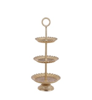 """Tiered stand gold - 8x19.75"""""""