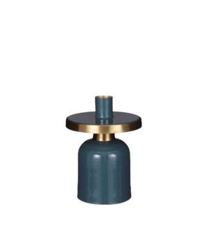 """Bernt candleholder blue - 4x5.75"""""""