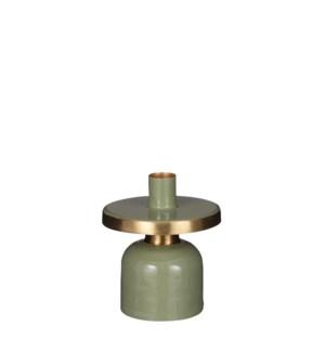 """Bernt candleholder green - 4x4.5"""""""
