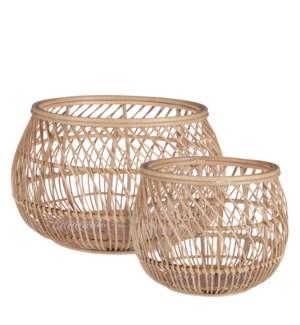 """Tavira basket l. brown set of 2 - 19x11.75"""""""