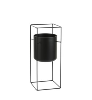"Porte pot on stand black - 8x8x19.75"""