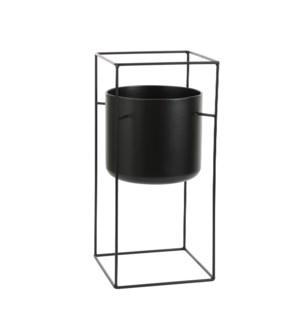 "Porte pot on stand black - 10.25x10.25x21.75"""