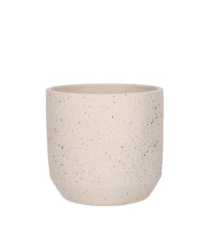Quinn pot round off white - 9.5x8.75""