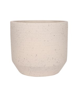 Quinn pot round off white - 13.75x12.5""