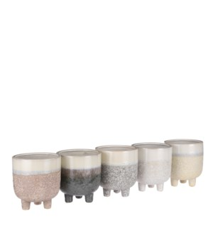 Eddy pot round 5 assorted PDQ - 5.5x6""