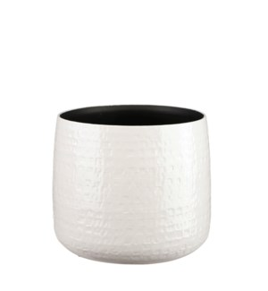 Floyd pot round white - 11x9.25""